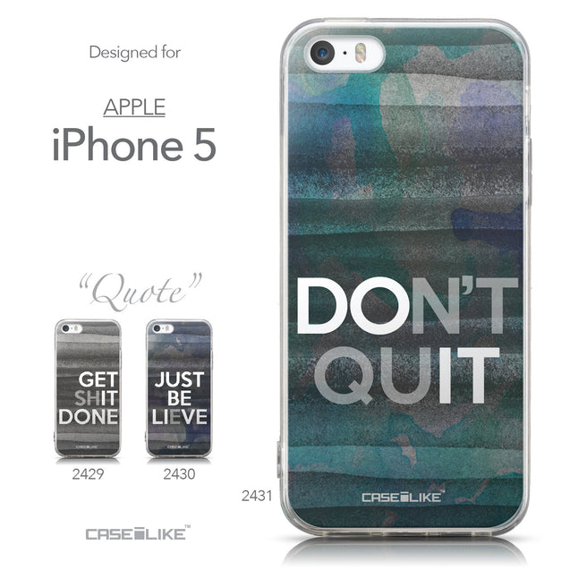 Collection - CASEiLIKE Apple iPhone 5GS back cover Quote 2431