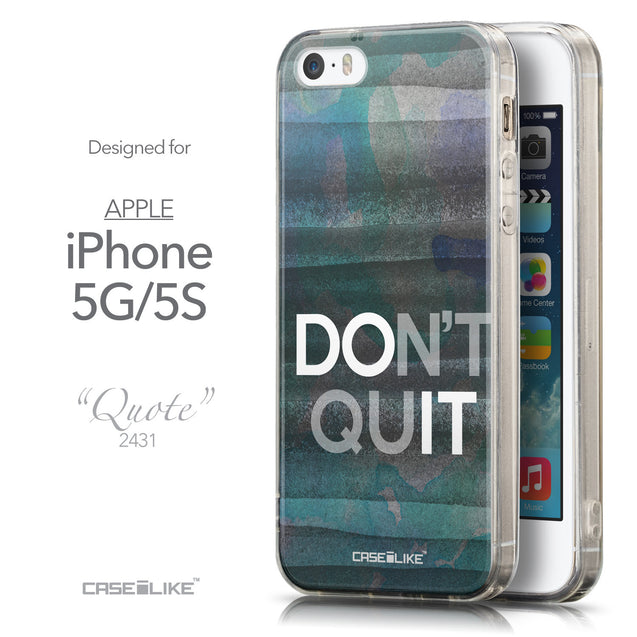Front & Side View - CASEiLIKE Apple iPhone 5GS back cover Quote 2431