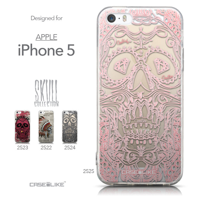 Collection - CASEiLIKE Apple iPhone 5GS back cover Art of Skull 2525