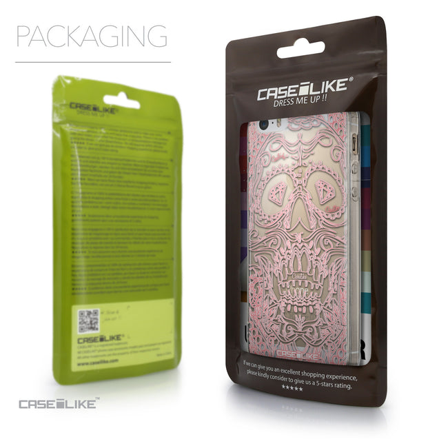 Packaging - CASEiLIKE Apple iPhone 5GS back cover Art of Skull 2525