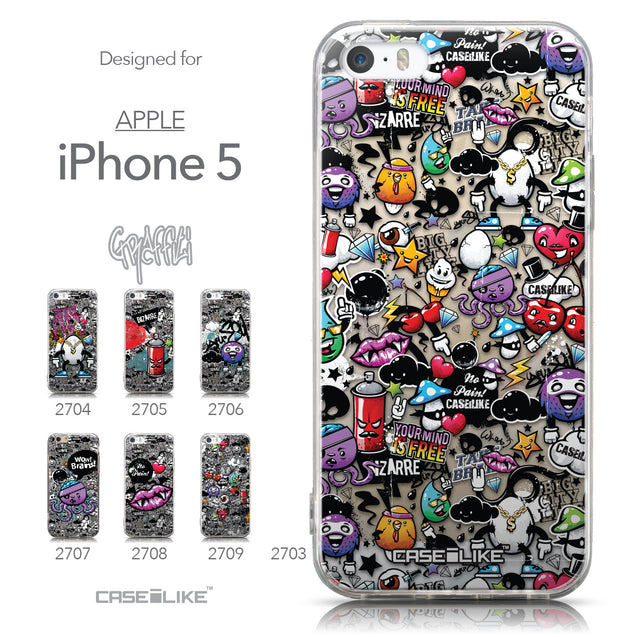 Collection - CASEiLIKE Apple iPhone 5GS back cover Graffiti 2703