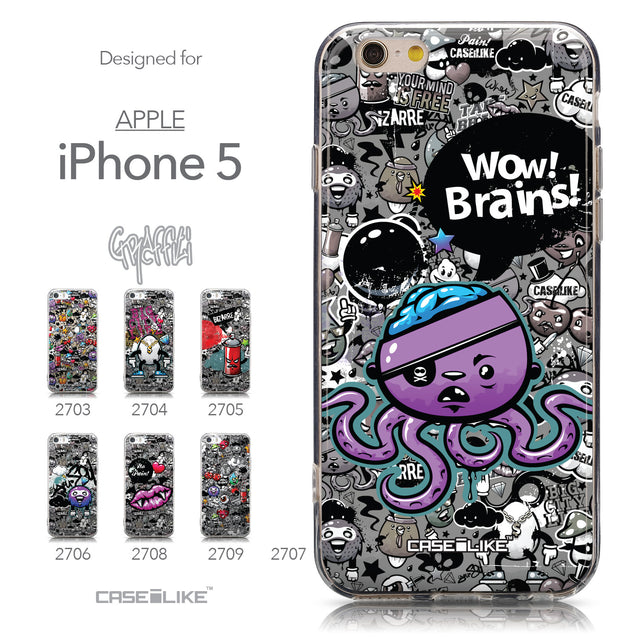Collection - CASEiLIKE Apple iPhone 5GS back cover Graffiti 2707