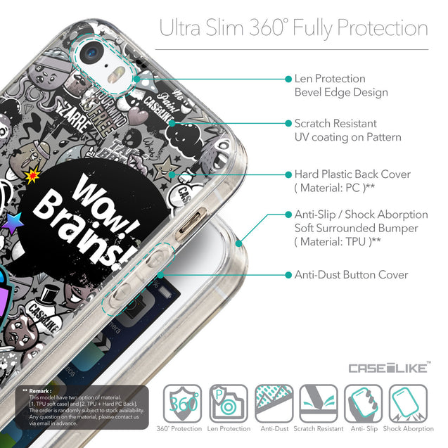 Details in English - CASEiLIKE Apple iPhone 5GS back cover Graffiti 2707