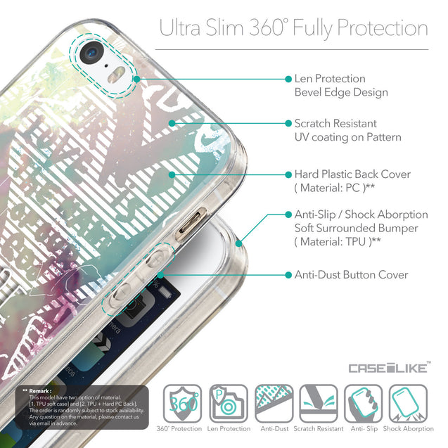 Details in English - CASEiLIKE Apple iPhone 5GS back cover Graffiti 2726