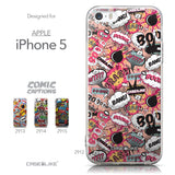 Collection - CASEiLIKE Apple iPhone 5GS back cover Comic Captions Pink 2912
