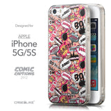 Front & Side View - CASEiLIKE Apple iPhone 5GS back cover Comic Captions Pink 2912