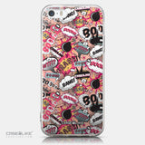 CASEiLIKE Apple iPhone 5GS back cover Comic Captions Pink 2912