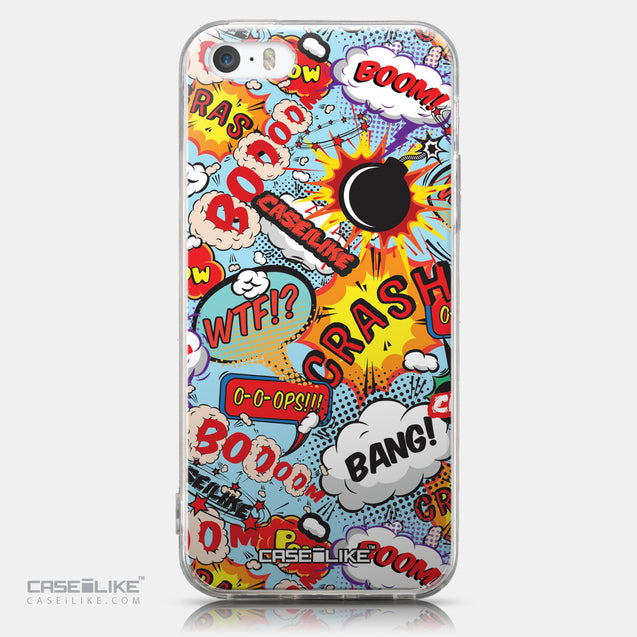 CASEiLIKE Apple iPhone 5GS back cover Comic Captions Blue 2913