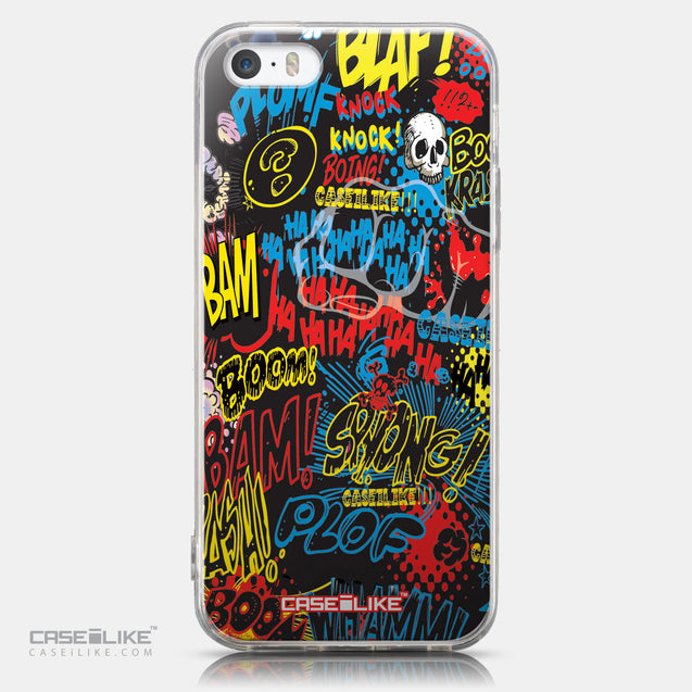 CASEiLIKE Apple iPhone 5GS back cover Comic Captions Black 2915