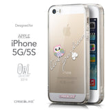 Front & Side View - CASEiLIKE Apple iPhone 5GS back cover Owl Graphic Design 3314