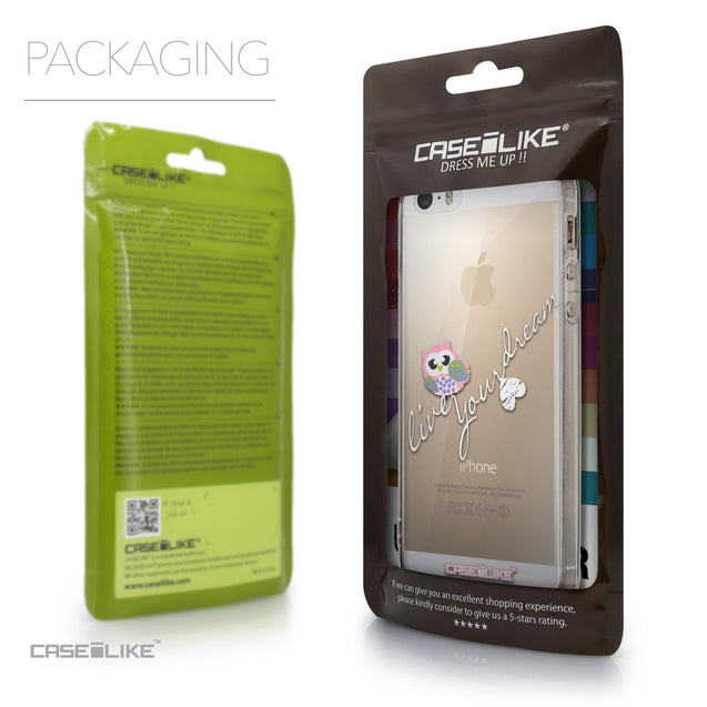 Packaging - CASEiLIKE Apple iPhone 5GS back cover Owl Graphic Design 3314