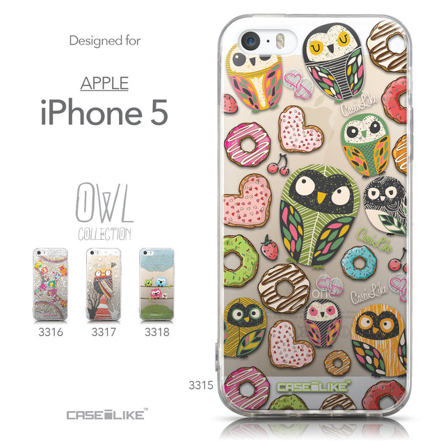 Collection - CASEiLIKE Apple iPhone 5GS back cover Owl Graphic Design 3315