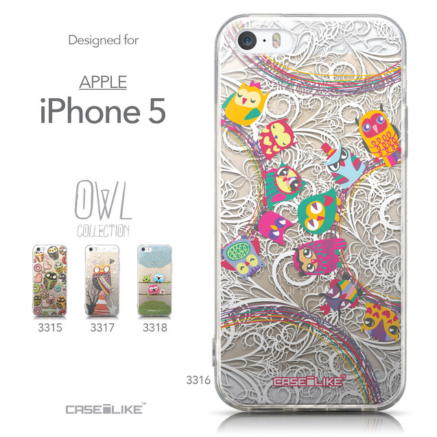 Collection - CASEiLIKE Apple iPhone 5GS back cover Owl Graphic Design 3316