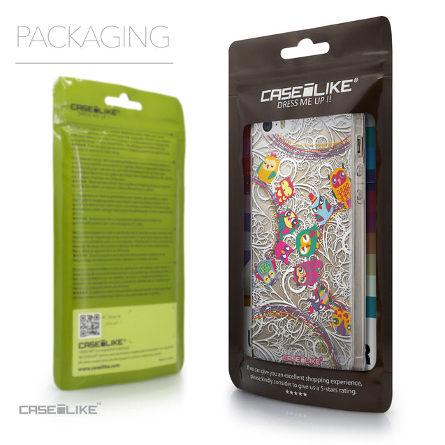 Packaging - CASEiLIKE Apple iPhone 5GS back cover Owl Graphic Design 3316