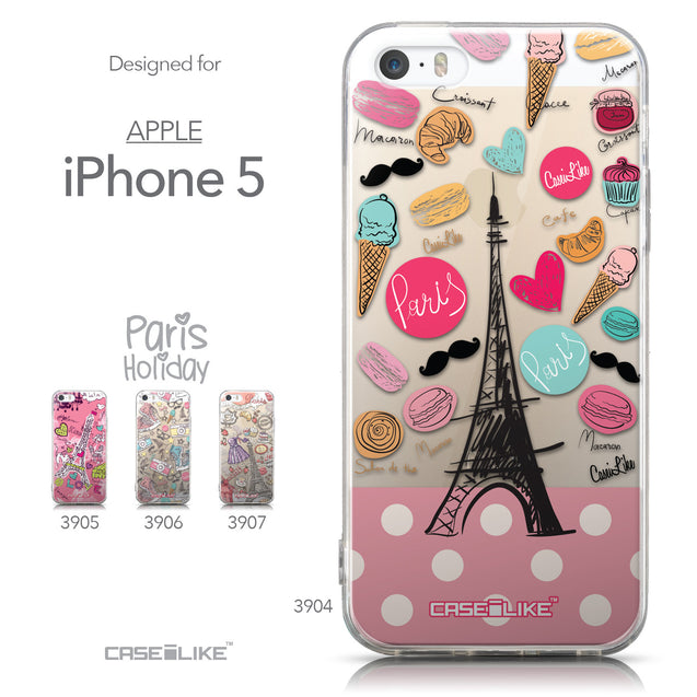Collection - CASEiLIKE Apple iPhone 5GS back cover Paris Holiday 3904