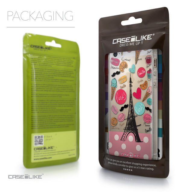 Packaging - CASEiLIKE Apple iPhone 5GS back cover Paris Holiday 3904