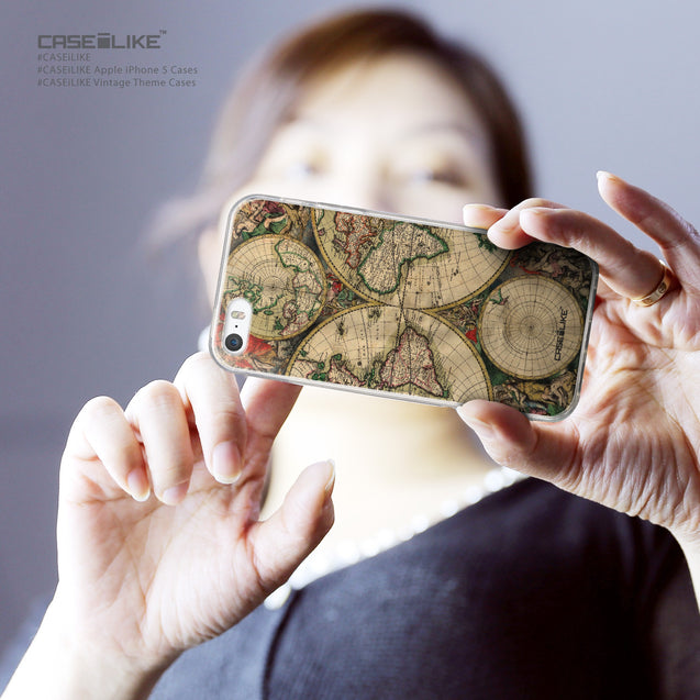 Share - CASEiLIKE Apple iPhone 5GS back cover World Map Vintage 4607