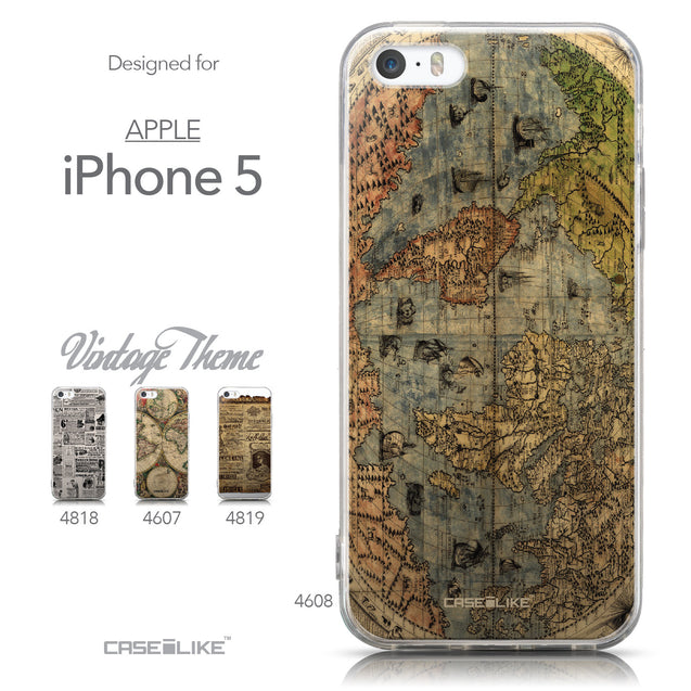 Collection - CASEiLIKE Apple iPhone 5GS back cover World Map Vintage 4608