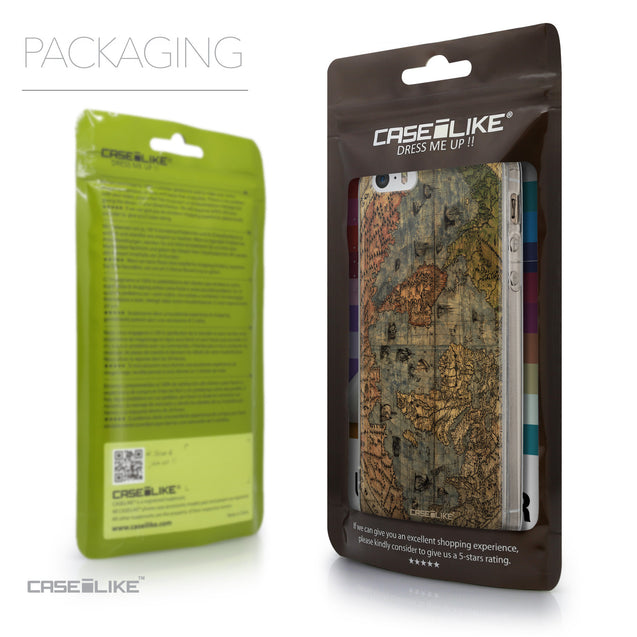 Packaging - CASEiLIKE Apple iPhone 5GS back cover World Map Vintage 4608