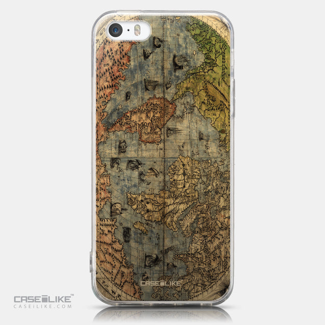 CASEiLIKE Apple iPhone 5GS back cover World Map Vintage 4608