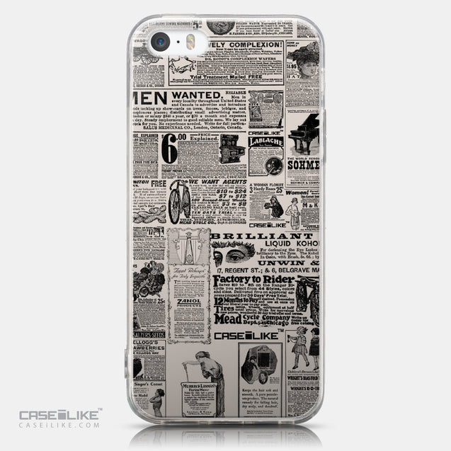 CASEiLIKE Apple iPhone 5GS back cover Vintage Newspaper Advertising 4818