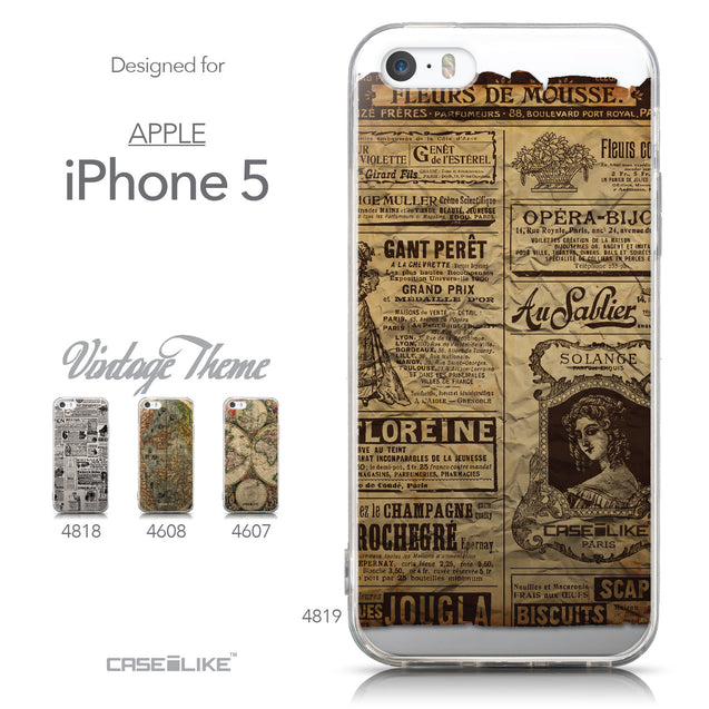 Collection - CASEiLIKE Apple iPhone 5GS back cover Vintage Newspaper Advertising 4819