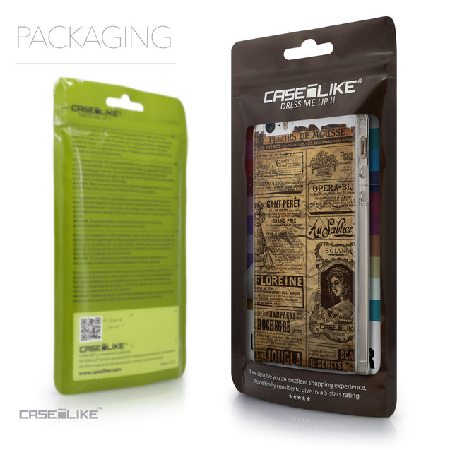 Packaging - CASEiLIKE Apple iPhone 5GS back cover Vintage Newspaper Advertising 4819