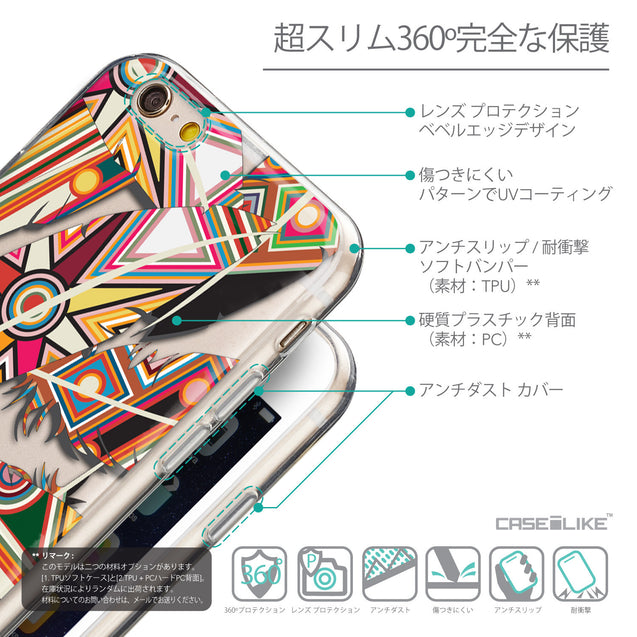 Details in Japanese - CASEiLIKE Apple iPhone 6 back cover Indian 2054 Tribal Theme Pattern