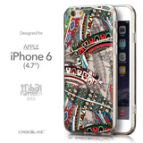 Front & Side View - CASEiLIKE Apple iPhone 6 back cover Indian 2055 Tribal Theme Pattern