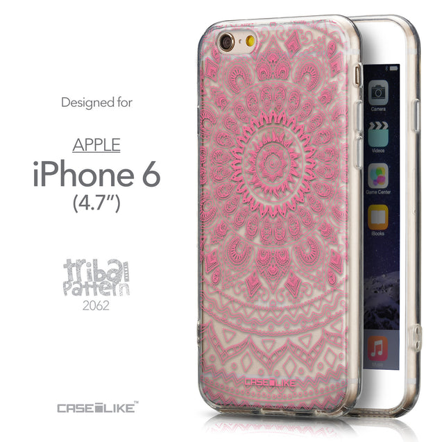 Front & Side View - CASEiLIKE Apple iPhone 6 back cover Indian Line Art 2062