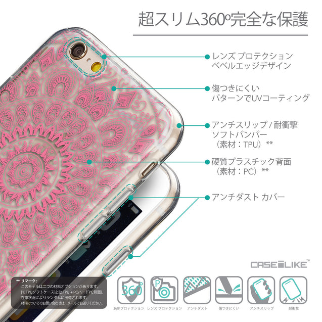 Details in Japanese - CASEiLIKE Apple iPhone 6 back cover Indian Line Art 2062