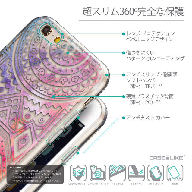 Details in Japanese - CASEiLIKE Apple iPhone 6 back cover Indian Line Art 2065