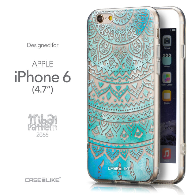 Front & Side View - CASEiLIKE Apple iPhone 6 back cover Indian Line Art 2066