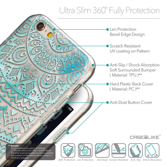 Details in English - CASEiLIKE Apple iPhone 6 back cover Indian Line Art 2066