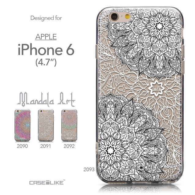 Collection - CASEiLIKE Apple iPhone 6 back cover Mandala Art 2093