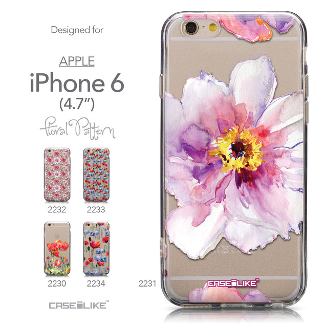 Collection - CASEiLIKE Apple iPhone 6 back cover Watercolor Floral 2231