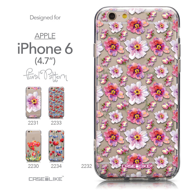 Collection - CASEiLIKE Apple iPhone 6 back cover Watercolor Floral 2232