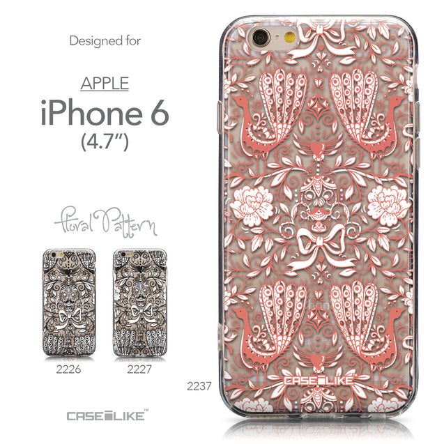 Collection - CASEiLIKE Apple iPhone 6 back cover Roses Ornamental Skulls Peacocks 2237
