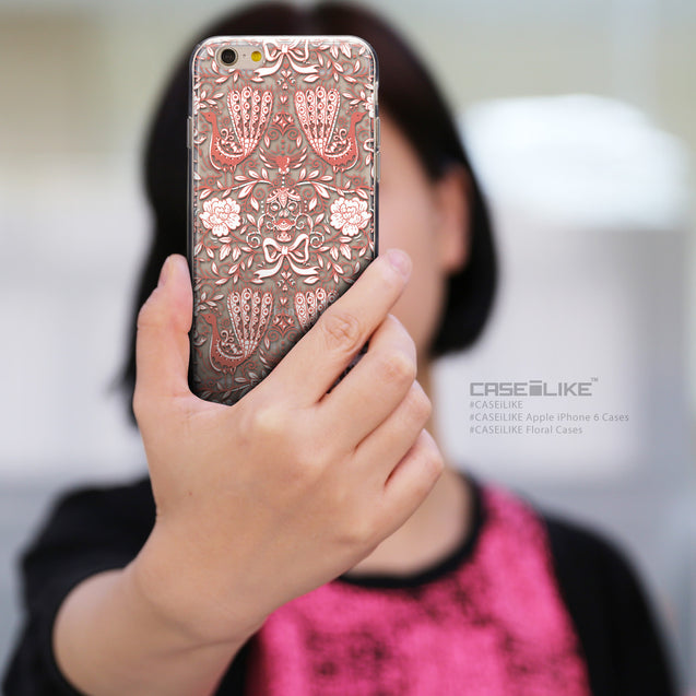 Share - CASEiLIKE Apple iPhone 6 back cover Roses Ornamental Skulls Peacocks 2237
