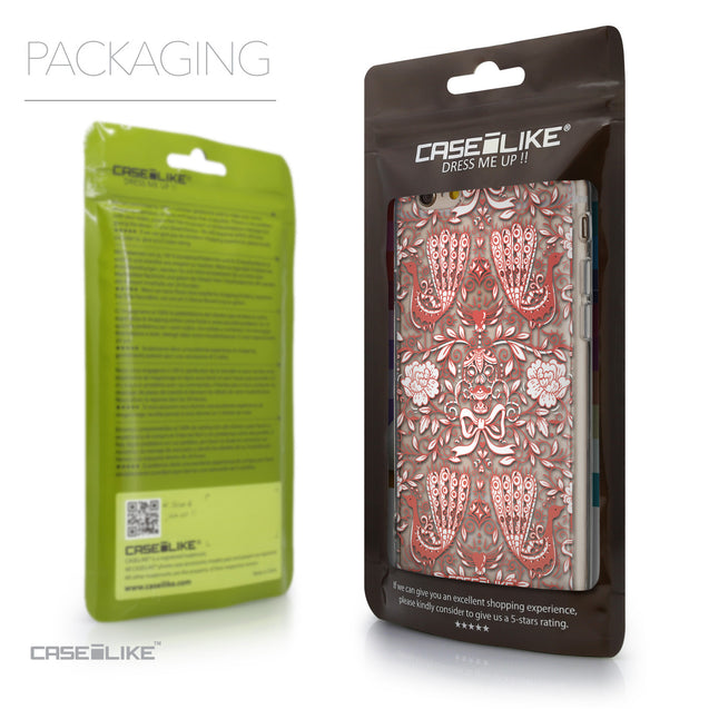 Packaging - CASEiLIKE Apple iPhone 6 back cover Roses Ornamental Skulls Peacocks 2237