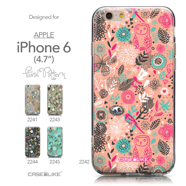 Collection - CASEiLIKE Apple iPhone 6 back cover Spring Forest Pink 2242