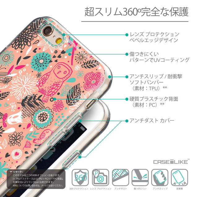 Details in Japanese - CASEiLIKE Apple iPhone 6 back cover Spring Forest Pink 2242