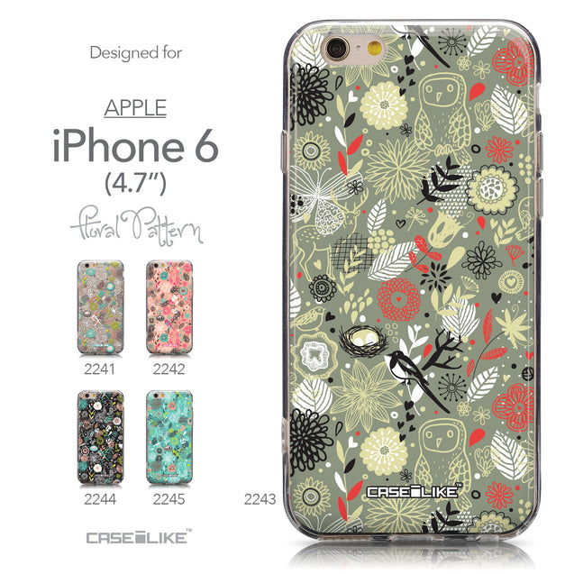 Collection - CASEiLIKE Apple iPhone 6 back cover Spring Forest Gray 2243