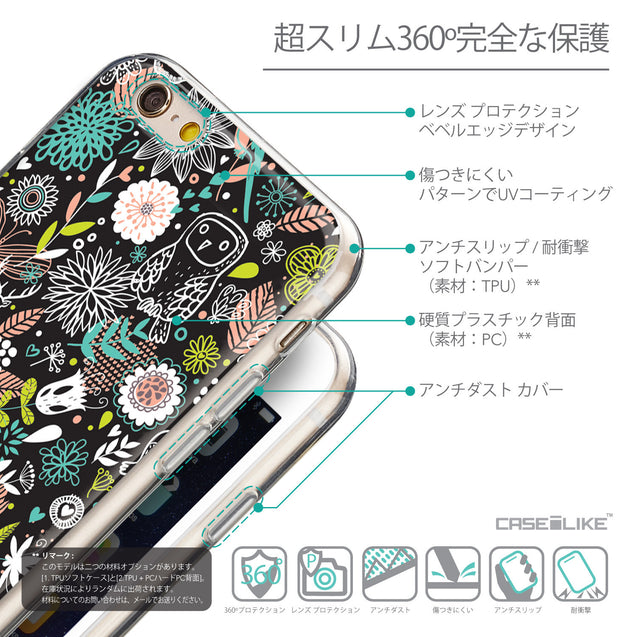 Details in Japanese - CASEiLIKE Apple iPhone 6 back cover Spring Forest Black 2244