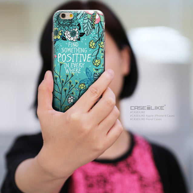 Share - CASEiLIKE Apple iPhone 6 back cover Blooming Flowers Turquoise 2249