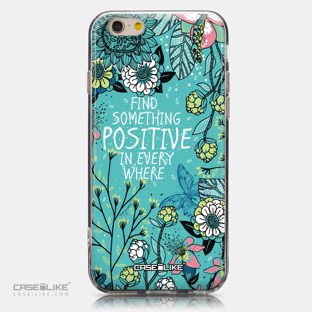 CASEiLIKE Apple iPhone 6 back cover Blooming Flowers Turquoise 2249