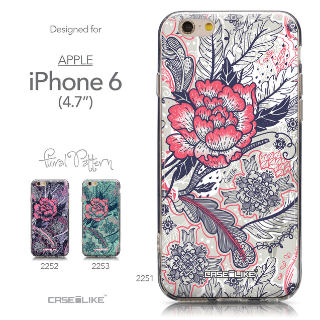 Collection - CASEiLIKE Apple iPhone 6 back cover Vintage Roses and Feathers Beige 2251