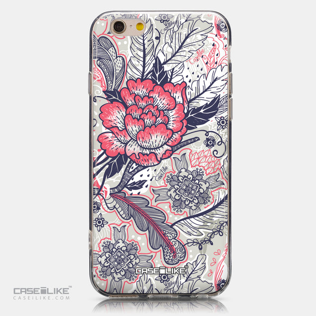 CASEiLIKE Apple iPhone 6 back cover Vintage Roses and Feathers Beige 2251
