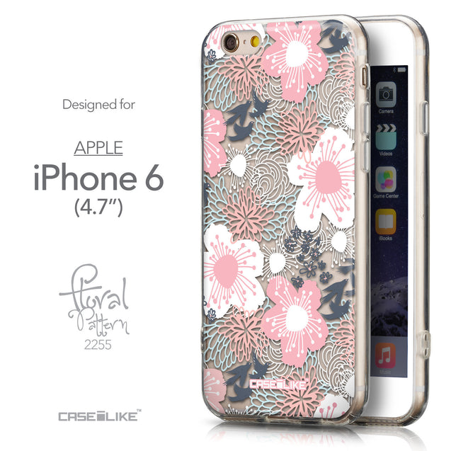 Front & Side View - CASEiLIKE Apple iPhone 6 back cover Japanese Floral 2255