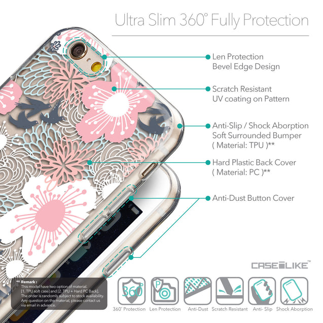 Details in English - CASEiLIKE Apple iPhone 6 back cover Japanese Floral 2255